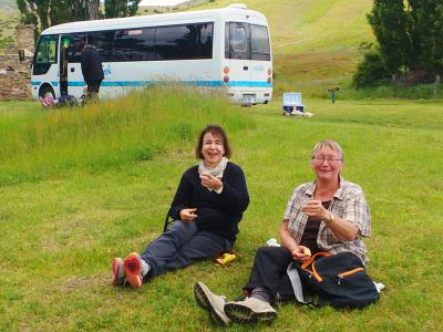 Relaxing on the Grass - MoaTrek Tour Gallery