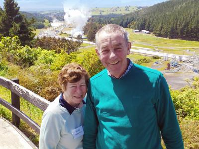 Happy travellers at the Rotorua Geothermal Area - MoaTrek Tour Gallery