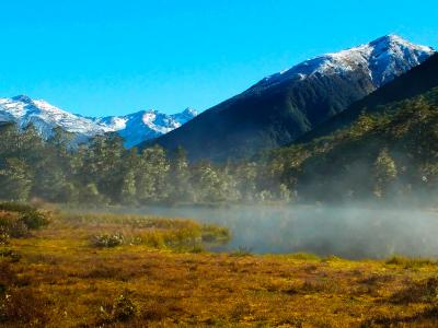 Southern Alps Misty Mountains - MoaTrek Tour Gallery