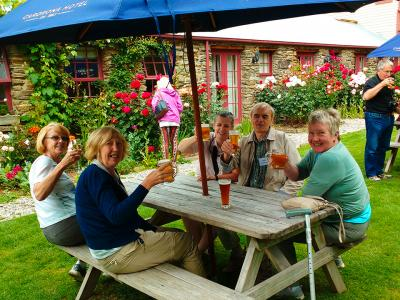Cheers at the Cardona Hotel Garden Bar - MoaTrek Tour Gallery