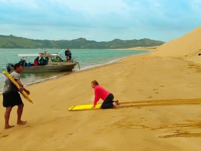 Sandboarding at Hokianga - MoaTrek Tour Gallery