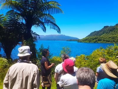 Lake Tarawera in Sunshine - MoaTrek Tour Gallery