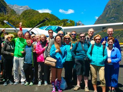 Fly out of Milford Sound