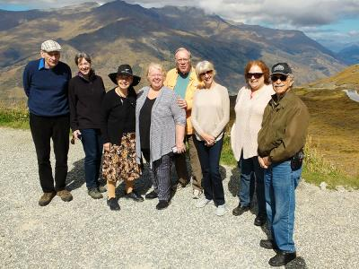 Small group on the Crown Range, Queenstown - MoaTrek Tour Gallery February 2017