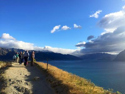 Lake lookout and stunning clouds, Lake Hawea - MoaTrek Tour Gallery February 2017