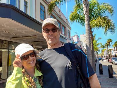 Couple enjoying walking in Art Deco Napier