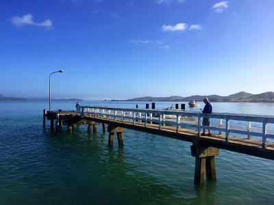 Views of the wharf at Oponoi, Bay of Islands - MoaTrek Tour Gallery February 2017