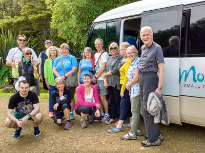 Group photo at the Kawiti Caves, Northland- MoaTrek Tour Gallery
