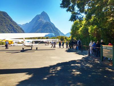 Mitre Peak from Milford Airport, Fiordland- MoaTrek Tour Gallery