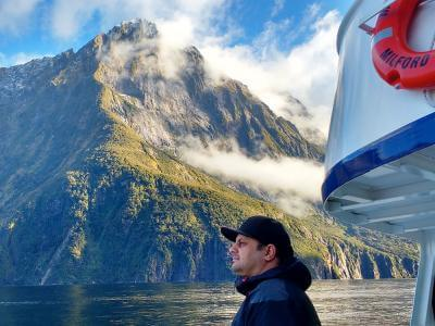 Beautiful Milford Sound cruise on the winter tour