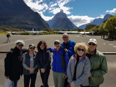 Ready for our scenic flight from Milford Sound