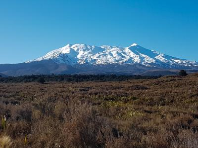 Mount Ruapehu covered in snow