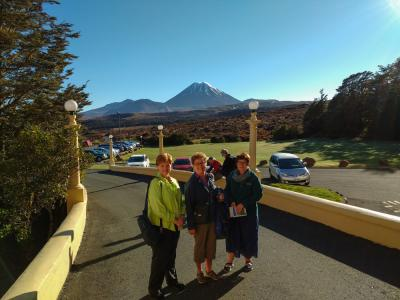 Outside Chateau Tongariro before embarking to the next adventure