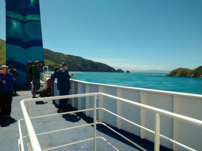 Crossing the cook strait