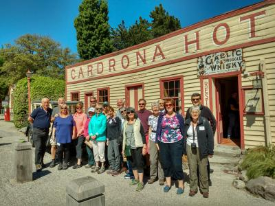 Group picture taken at the Historic Cardrona Hotel.