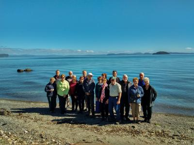 Group picture taken on the edge of Lake Taupo