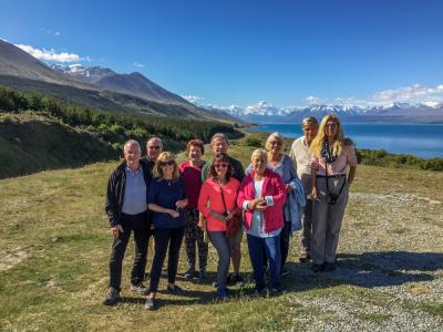 Wonderful group shot at Mt Cook