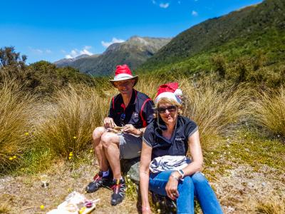 Christmas lunch in the southern alps