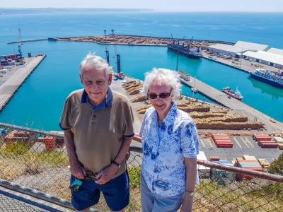 Great picture of our guests at the Port in Napier