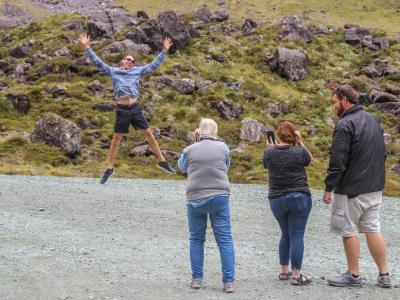A bit of fun on the way to Milford Sound