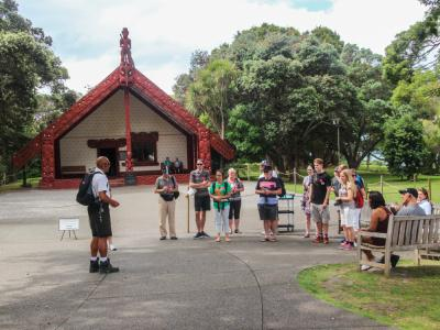 Guided tour at the Waitangi Treaty Grounds