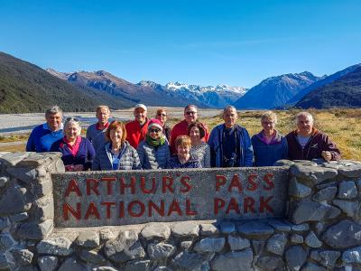 MoaTrek Group at Arthurs Pass