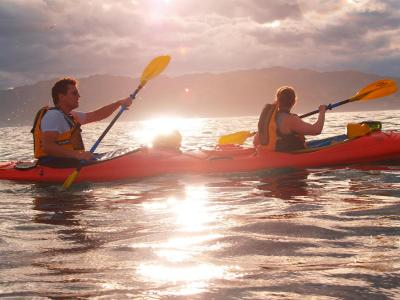 Going for a kayak is an option in Kaikoura