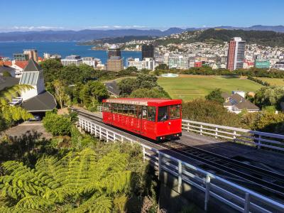 Wellington Cable Car on a perfect day