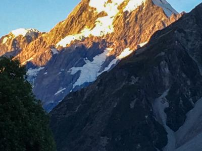 Mount Cook gleaming
