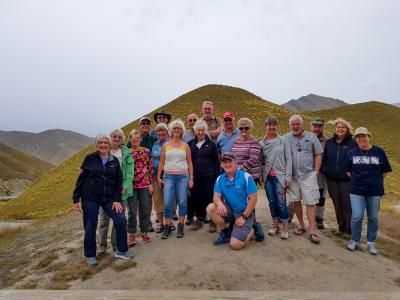 Andre and MoaTrek group in the Lindis Pass