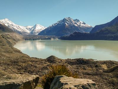 Views of the Tasman Glacier Lake from the Blue Pools Track