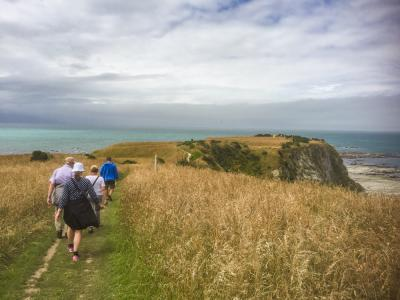 Walkers on the Kaikoura Penninsula Walkway