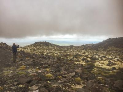 The Volcanic Landscape of Mt Ruapehu under cloud