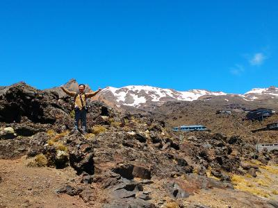 Walker at the Mt Ruapehu Base Buidling