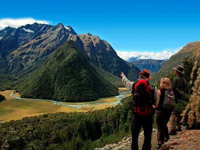 Guide & Walkers on the Routeburn Track