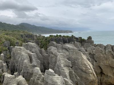 The Pancake Rocks on the West Coast