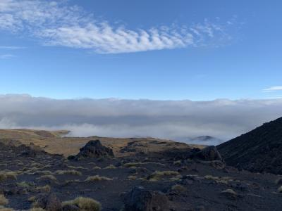 Above the cloud on Mt Ruapehu