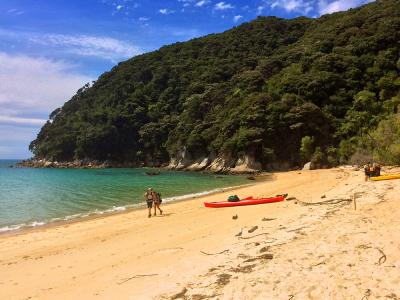 Walking on the beach in Abel Tasman National Park