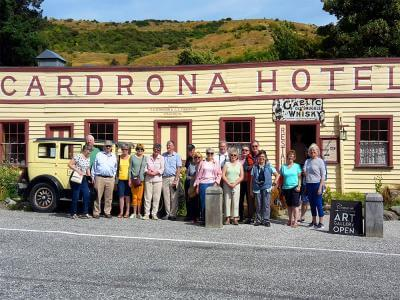 Group photo at the historic Cardrona Hotel