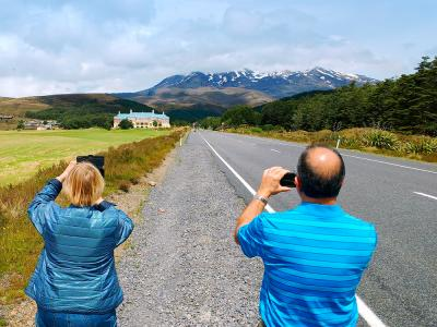 The road to the Chateau Tongariro - MoaTrek Small Group Tours