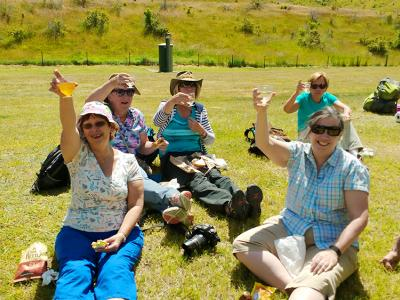 Outside lunch in the sunshine - MoaTrek Small Group Tours