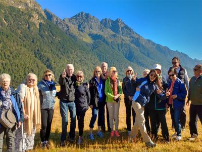 Team photo on the Milford Road - MoaTrek Small Group Tours