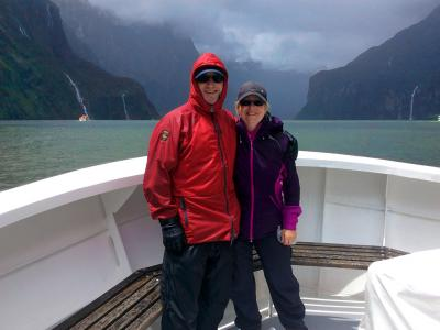 Nice and warm on the Milford Sound cruise