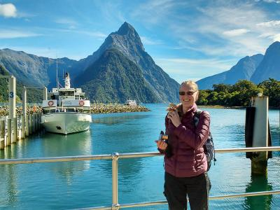 MoaTrek guest about to see Milford Sound