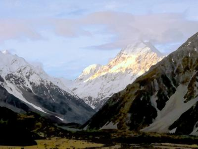 Views of Mt Cook and the Hooker Valley - NZ Sightseeing with MoaTrek