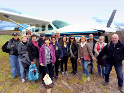 Happy team after their Milford Sound scenic flght  - NZ South Island Itinerary
