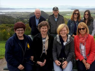 Happy team at Lake Tarawera - MoaTrek
