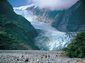 Fascinating glaciers in New Zealand's South Island