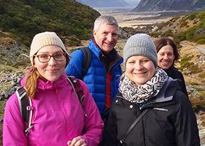 MoaTrek guests walking in Mt Cook - Tour Review