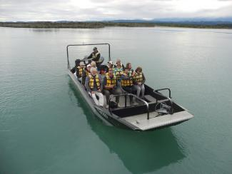 MoaTrek guests enojying the boat ride in New Zealand - Tour Review